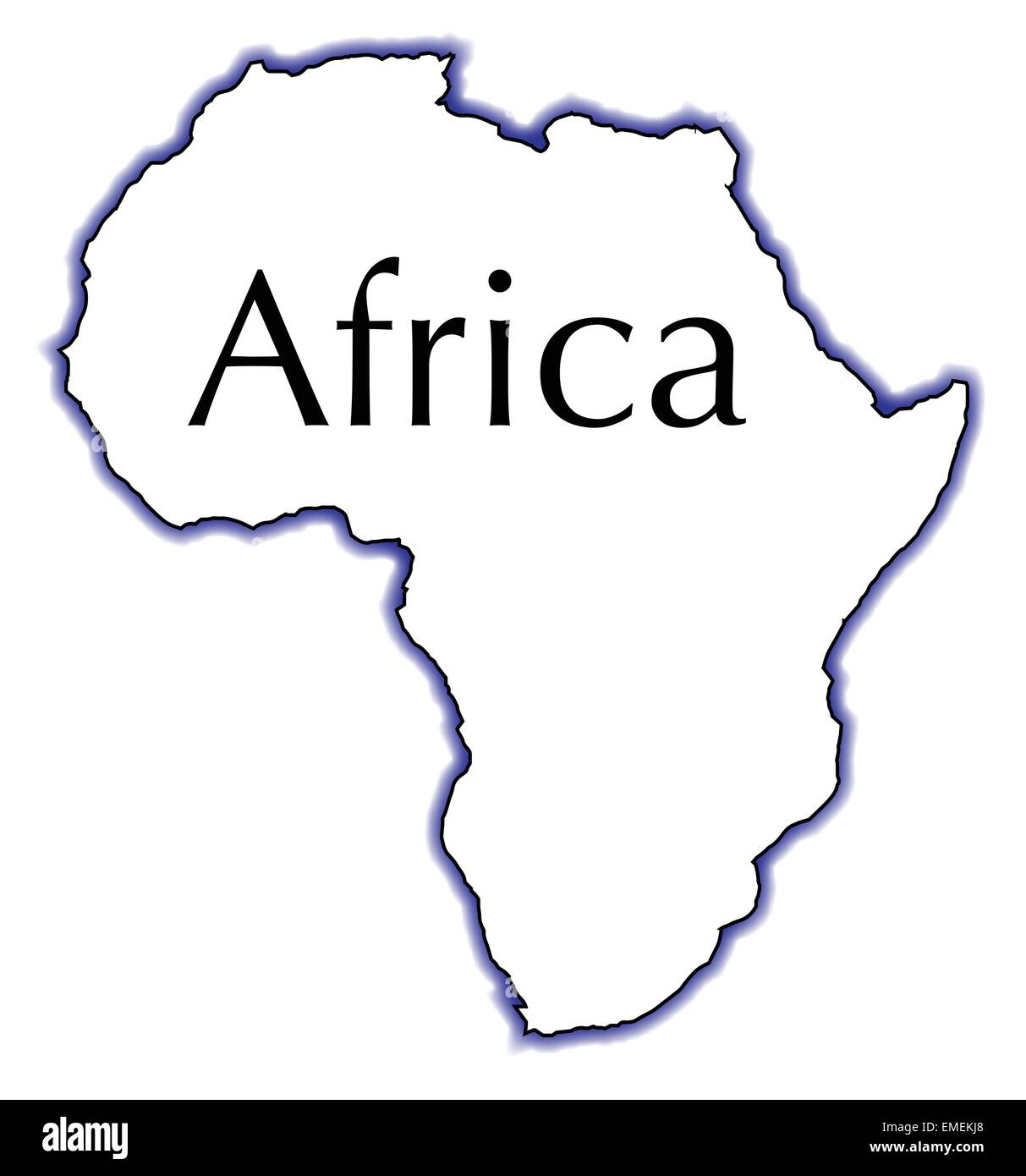 Outline Map Africa Over White Stock Photos & Outline Map Africa Over ...