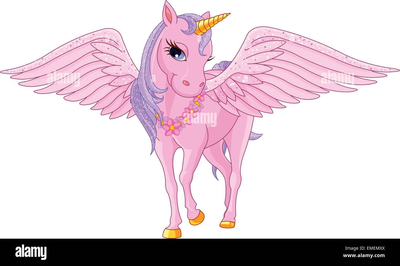 Unicorn Pegasus Stock Vector Art Illustration Image