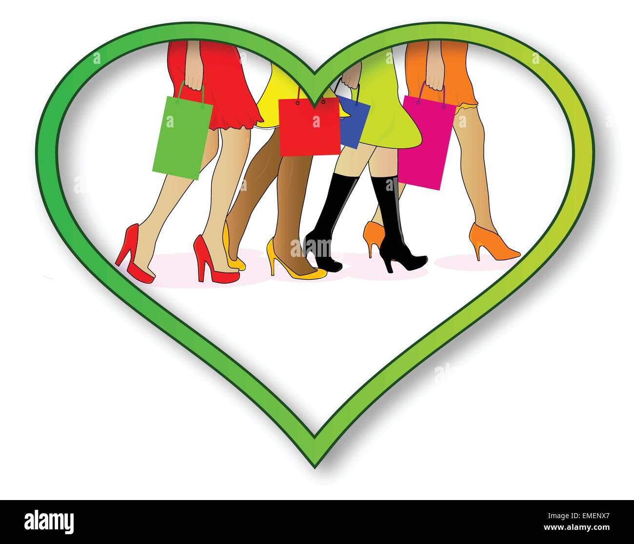 Love Shopping - Stock Vector