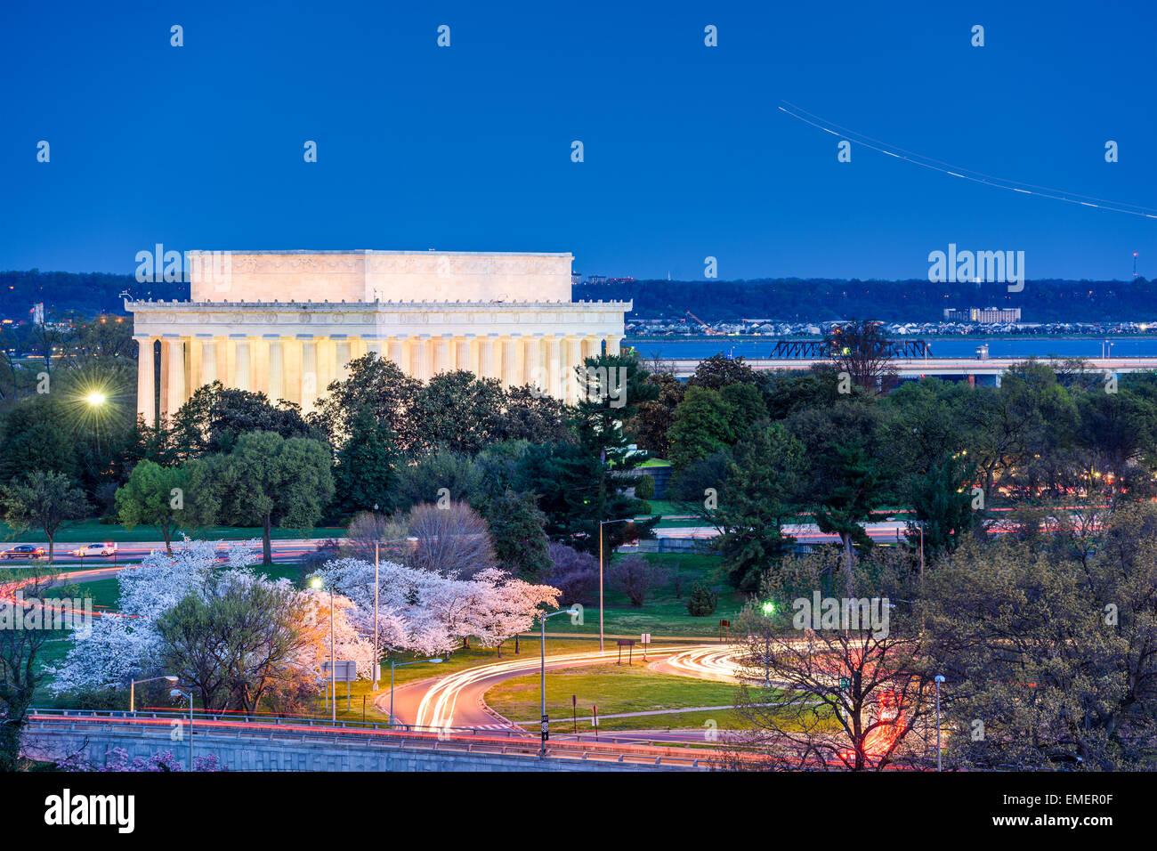 Washington, D.C. at Lincoln Memorial. - Stock Image
