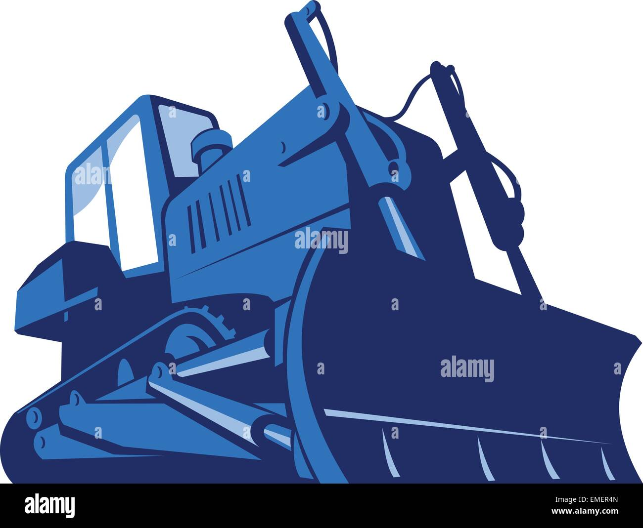 bulldozer front retro - Stock Image