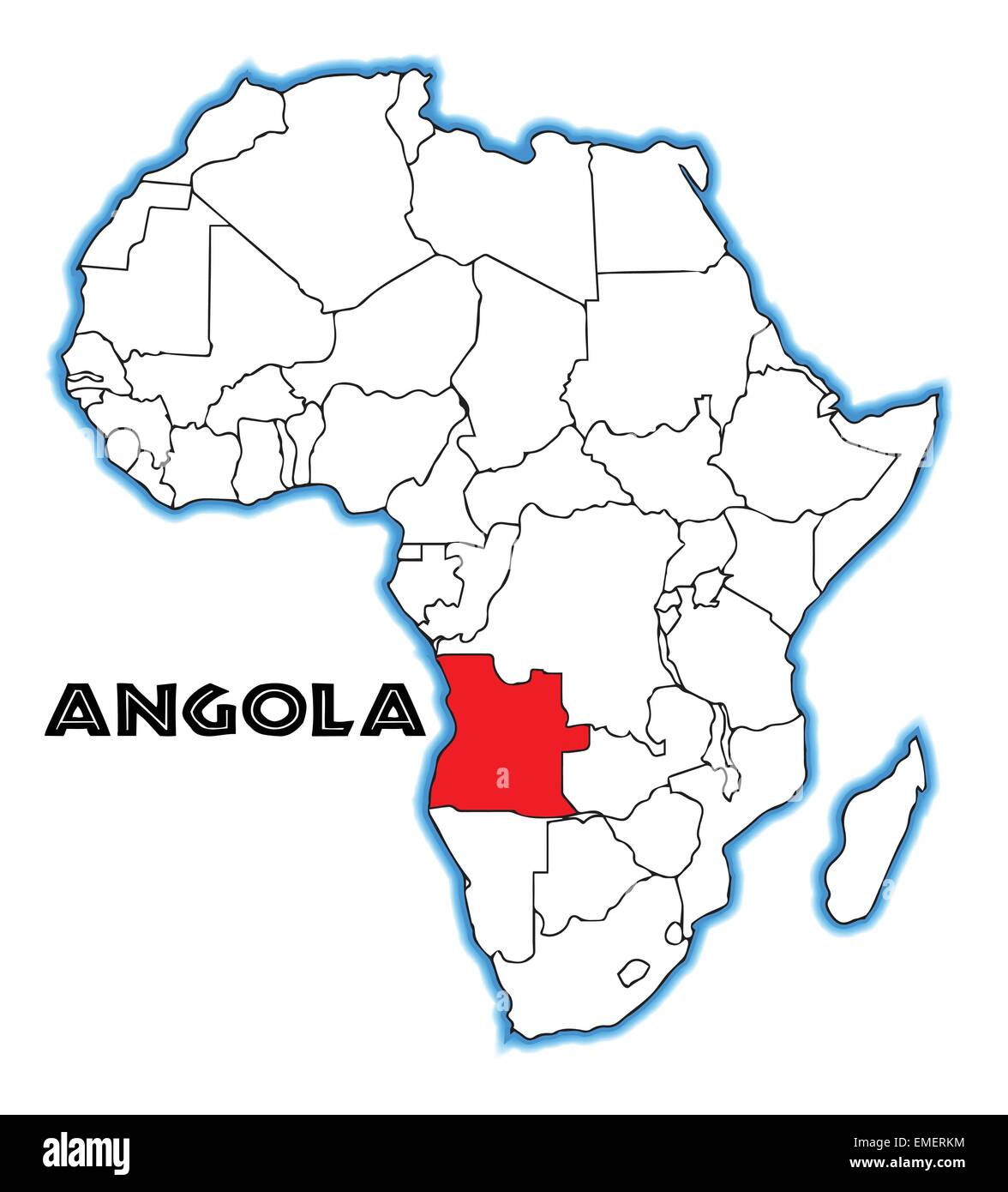 angola on a map Angola Africa Map High Resolution Stock Photography And Images Alamy angola on a map