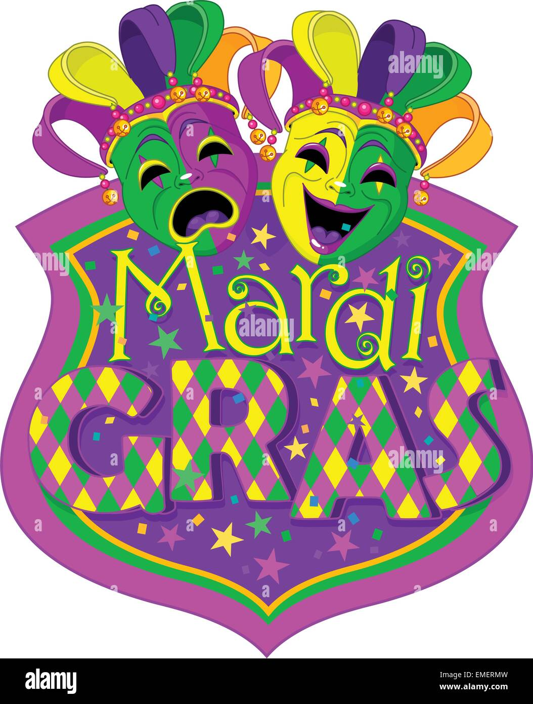 Mardi Gras Masks design - Stock Vector