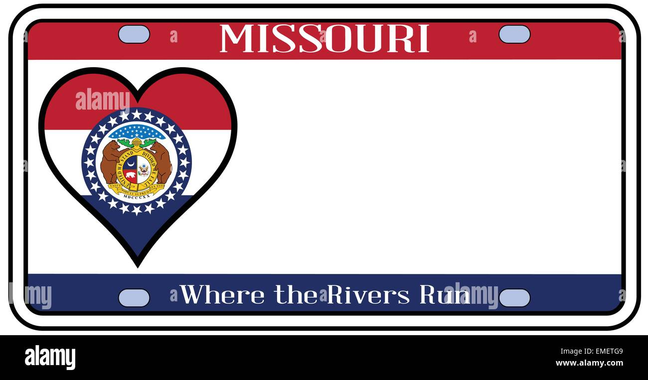 Missouri License Plate Stock Vector Art & Illustration, Vector Image ...
