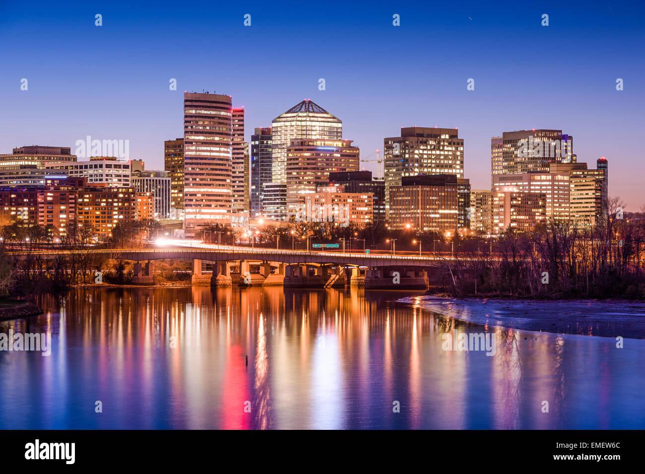 Rosslyn, Arlington, Virginia, USA skyline on the Potomac River. - Stock Image