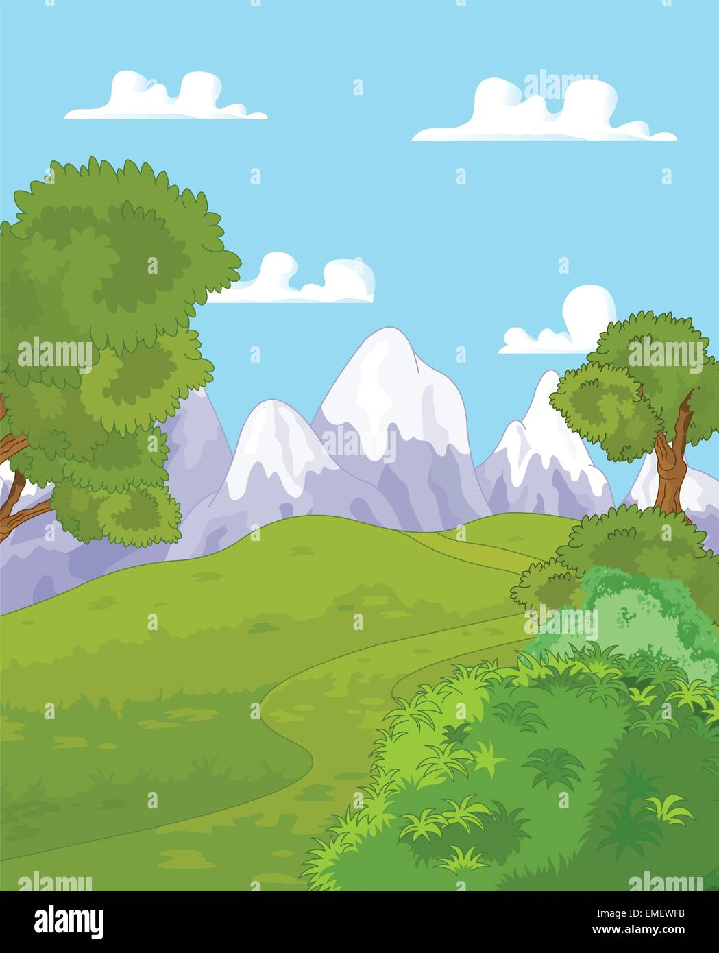 Mountain landscape - Stock Vector