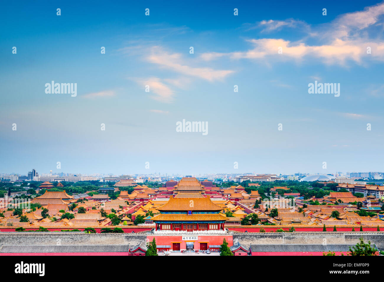 Beijing, China overlooking the Forbidden City. Stock Photo