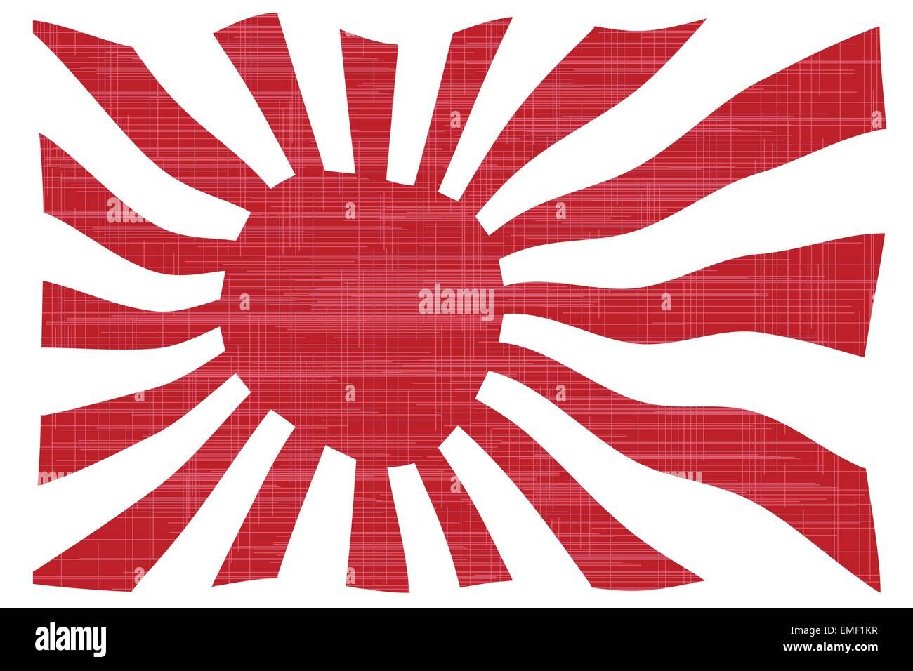 Waving Japanese Flag - Stock Image