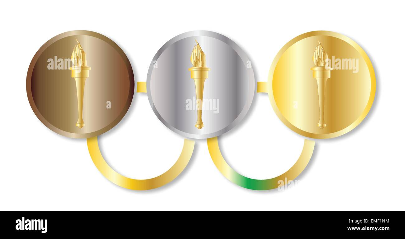 Medal Olympic Rings Stock Vector