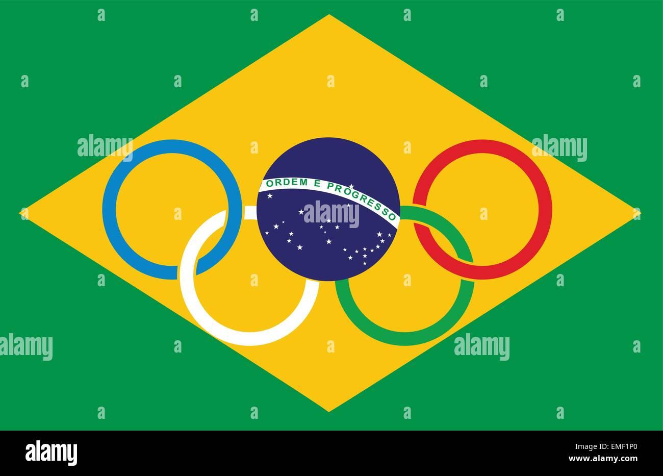 Brazil Olympics - Stock Vector