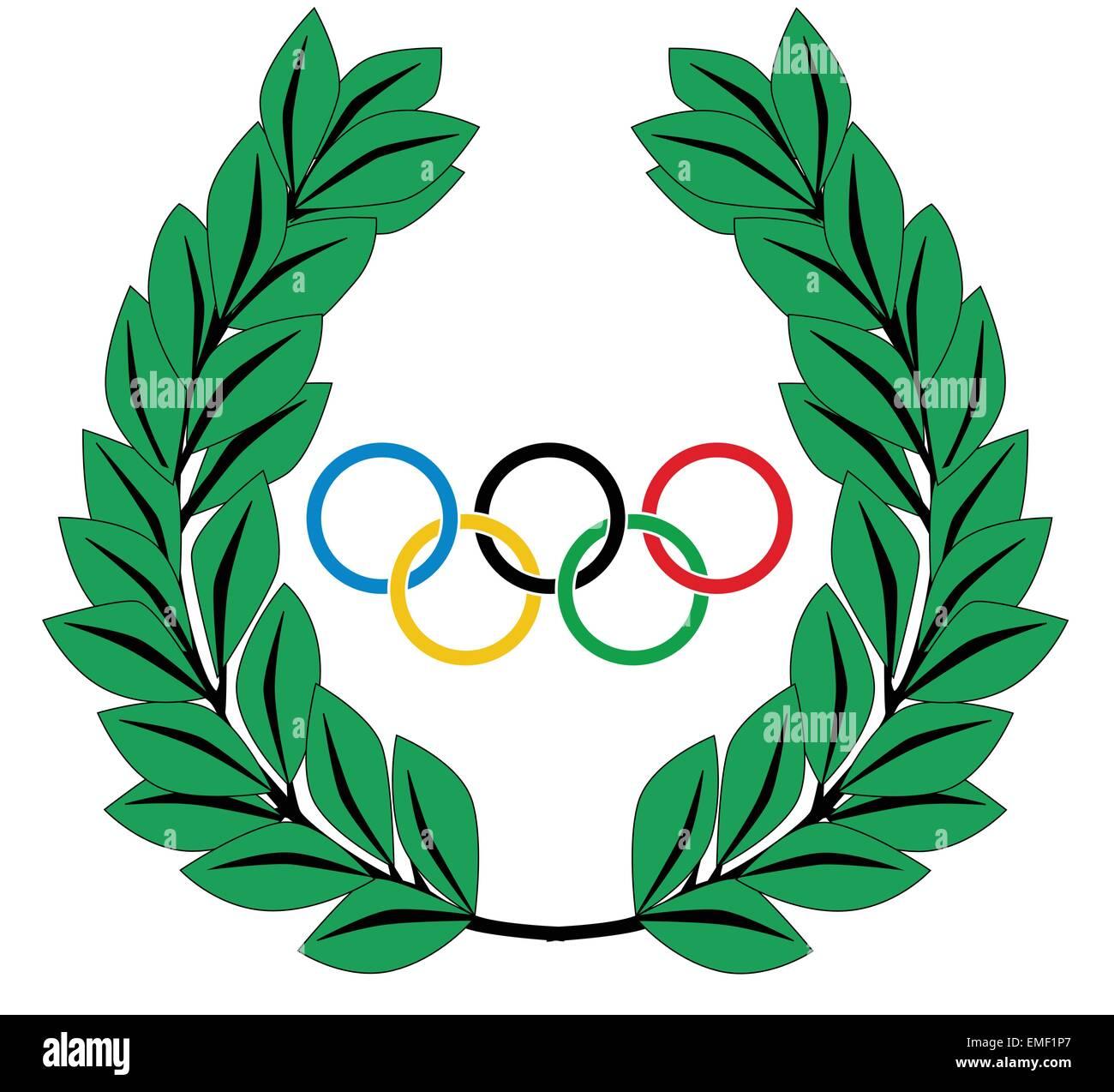 olympic wreath stock vector art illustration vector image rh alamy com 2018 Winter Olympics Clip Art Winter Olympic Laurel Leaf Clip Art