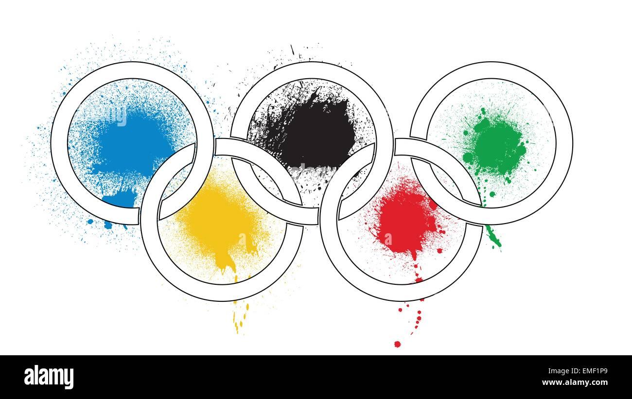 Olympic Splashes - Stock Vector