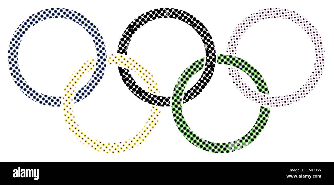 Olympic Dots - Stock Vector