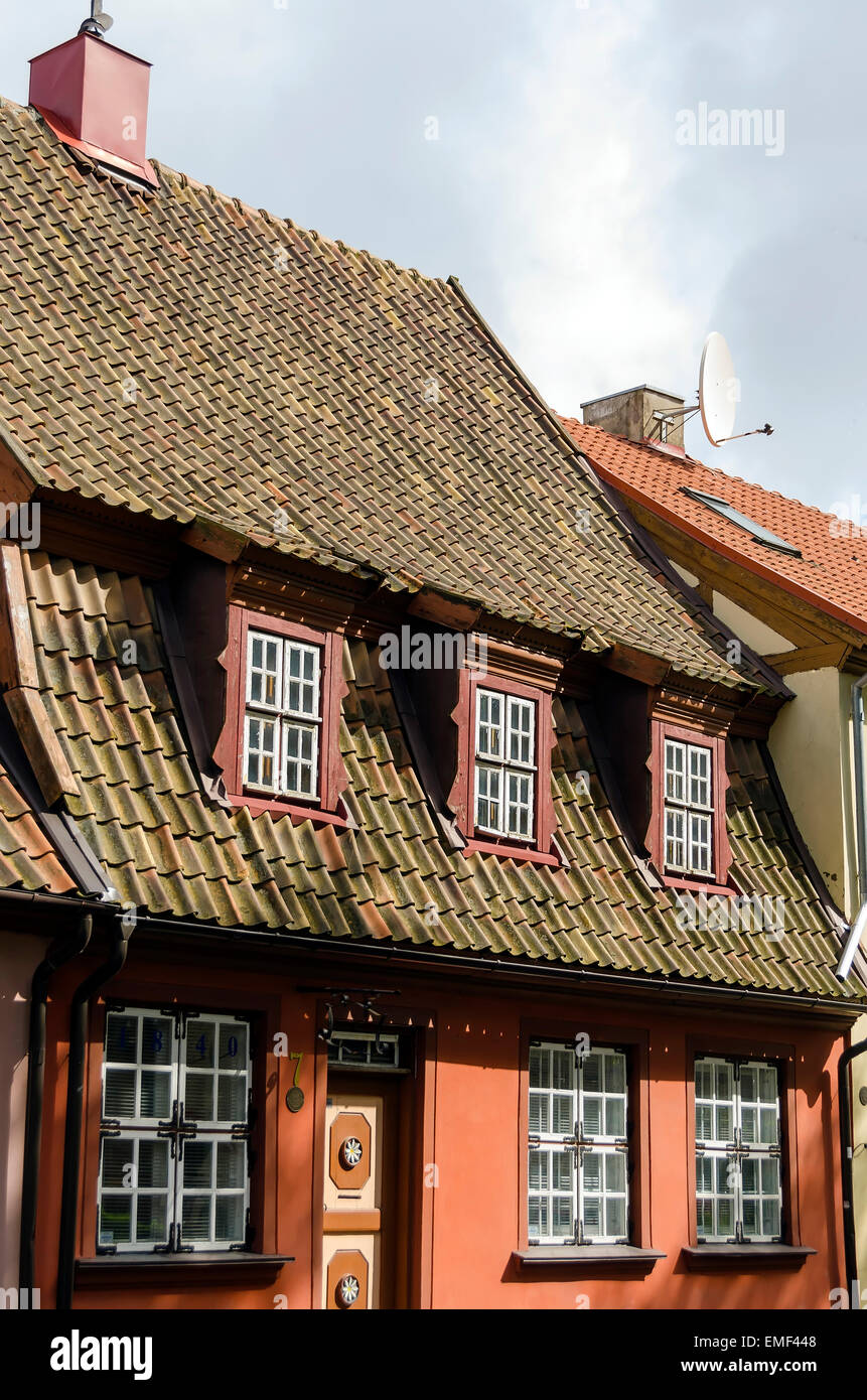 Klaipeda Lithuania Old Town home architecture - Stock Image