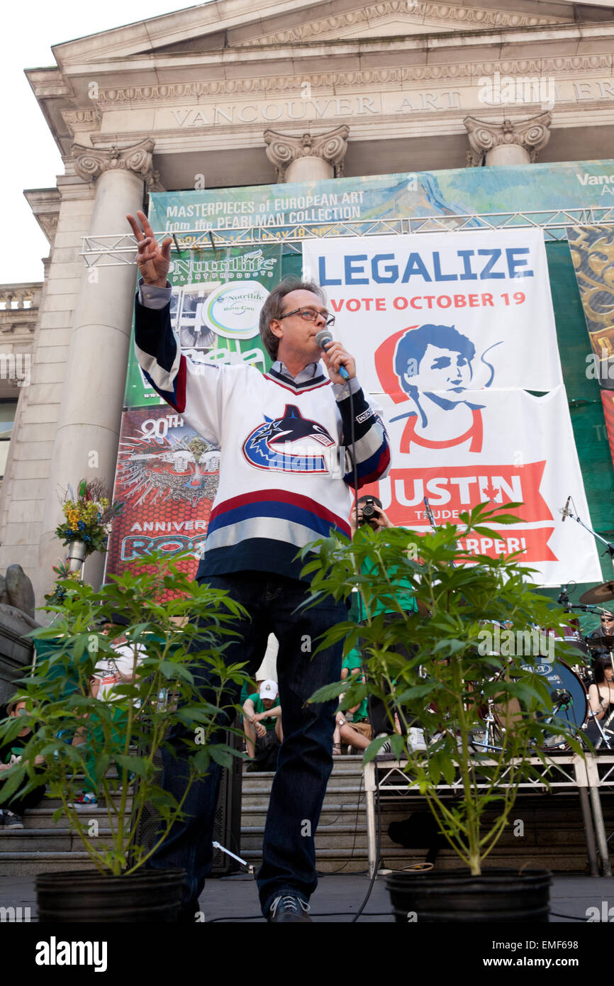 Marc Emery, 'The Prince of Pot', who was imprisoned in the USA for five years for selling marijuana seeds - Stock Image