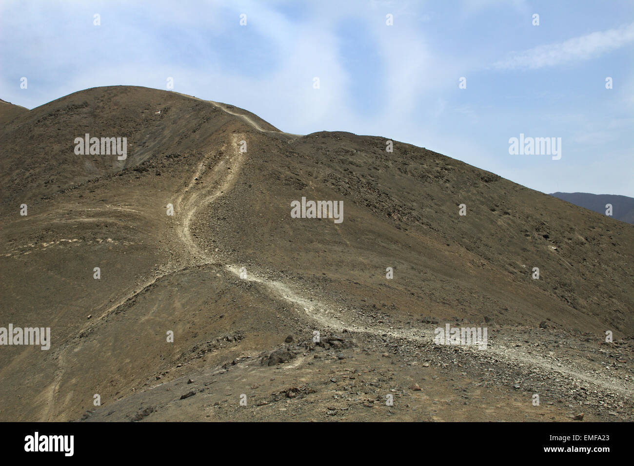 Desert Mountain Track - Stock Image
