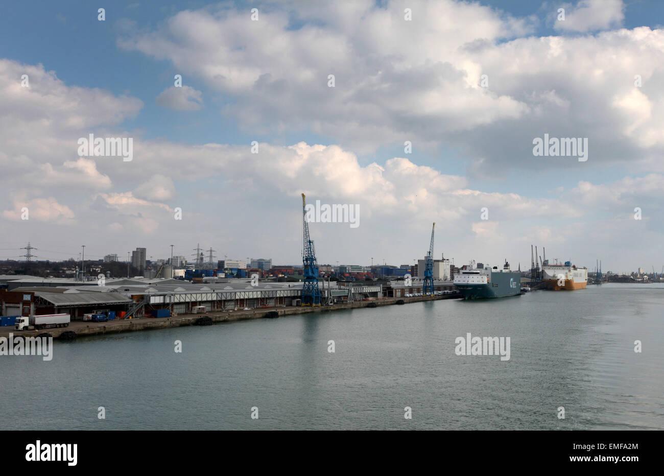 Southampton Docks Southampton - Stock Image