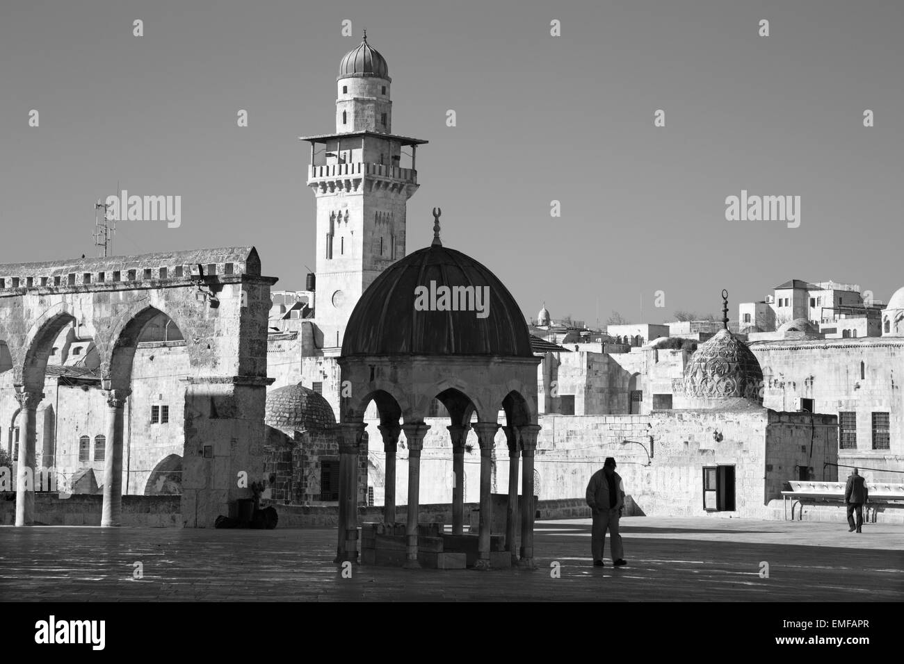 JERUSALEM, ISRAEL - MARCH 5, 2015: The look from the Temple Mount to west in morning light. Stock Photo