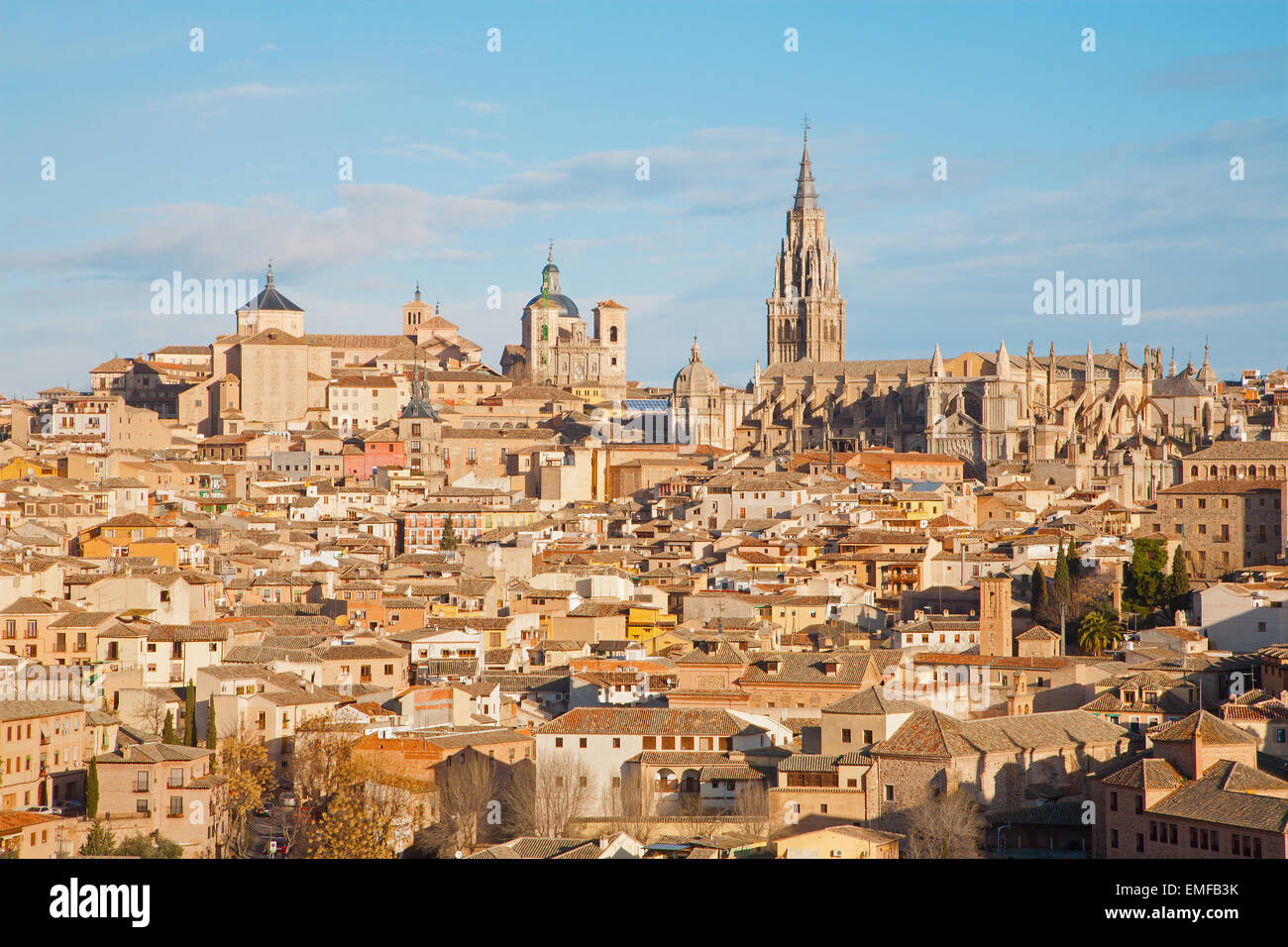 Toledo in morning light - Stock Image