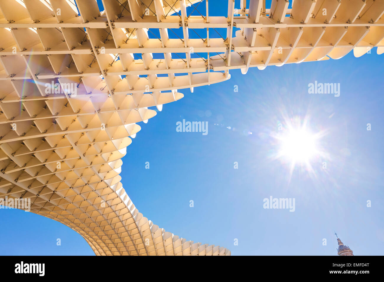 Las Setas de la Encarnacion, or Sevilla Metropol Parasol modern wood structure in Seville Spain - Stock Image