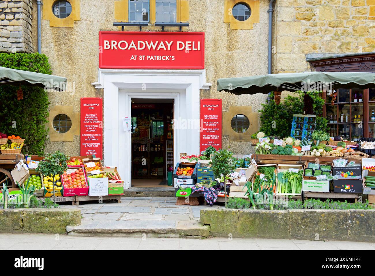 The Broadway Deli, Broadway, Worcestershire, England UK - Stock Image
