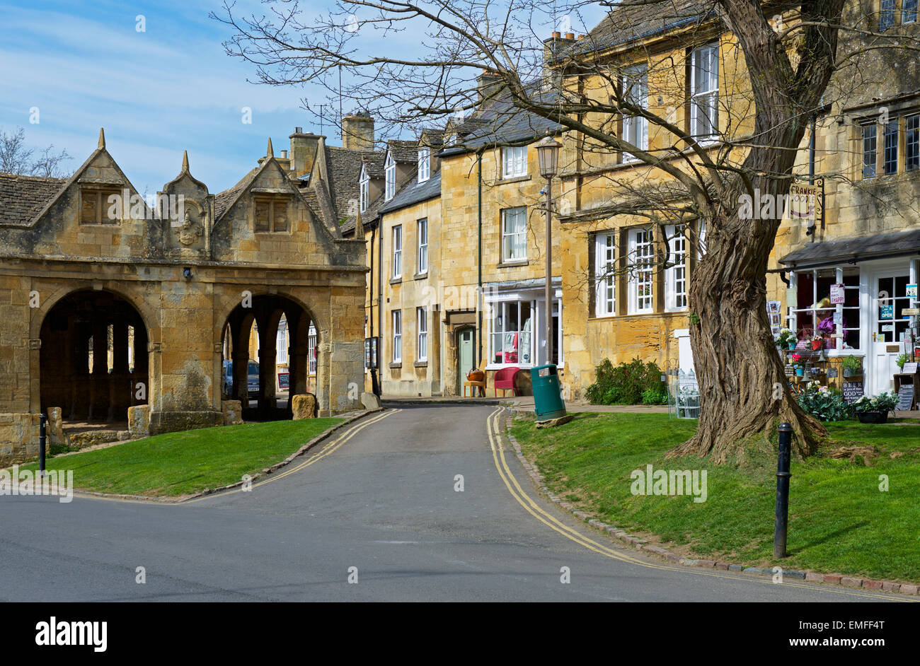 The cloisters in Chipping Campden, Gloucestershire, Cotswolds, England UK - Stock Image