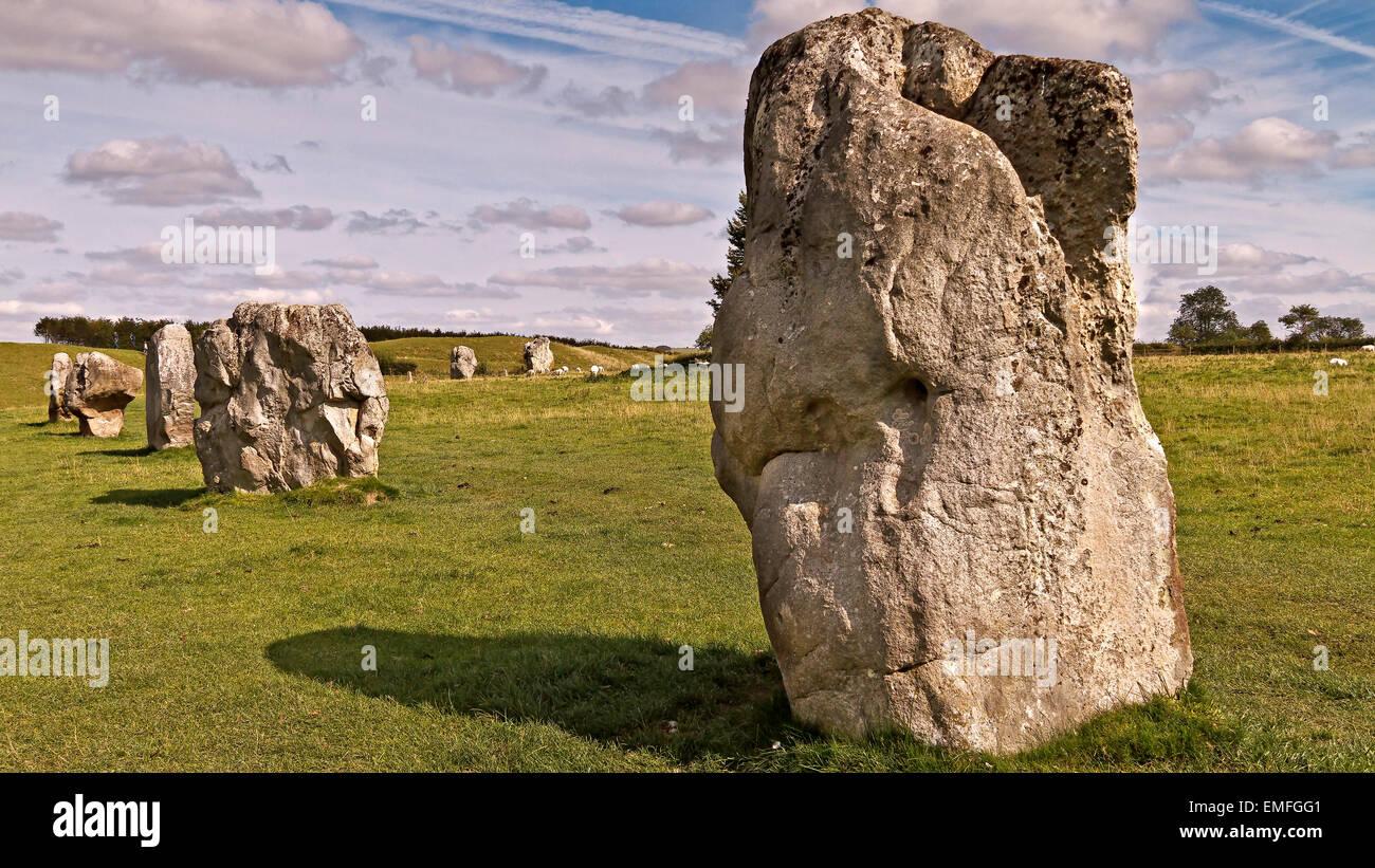 UK Wiltshire Avebury Part Of Stone circle Stock Photo