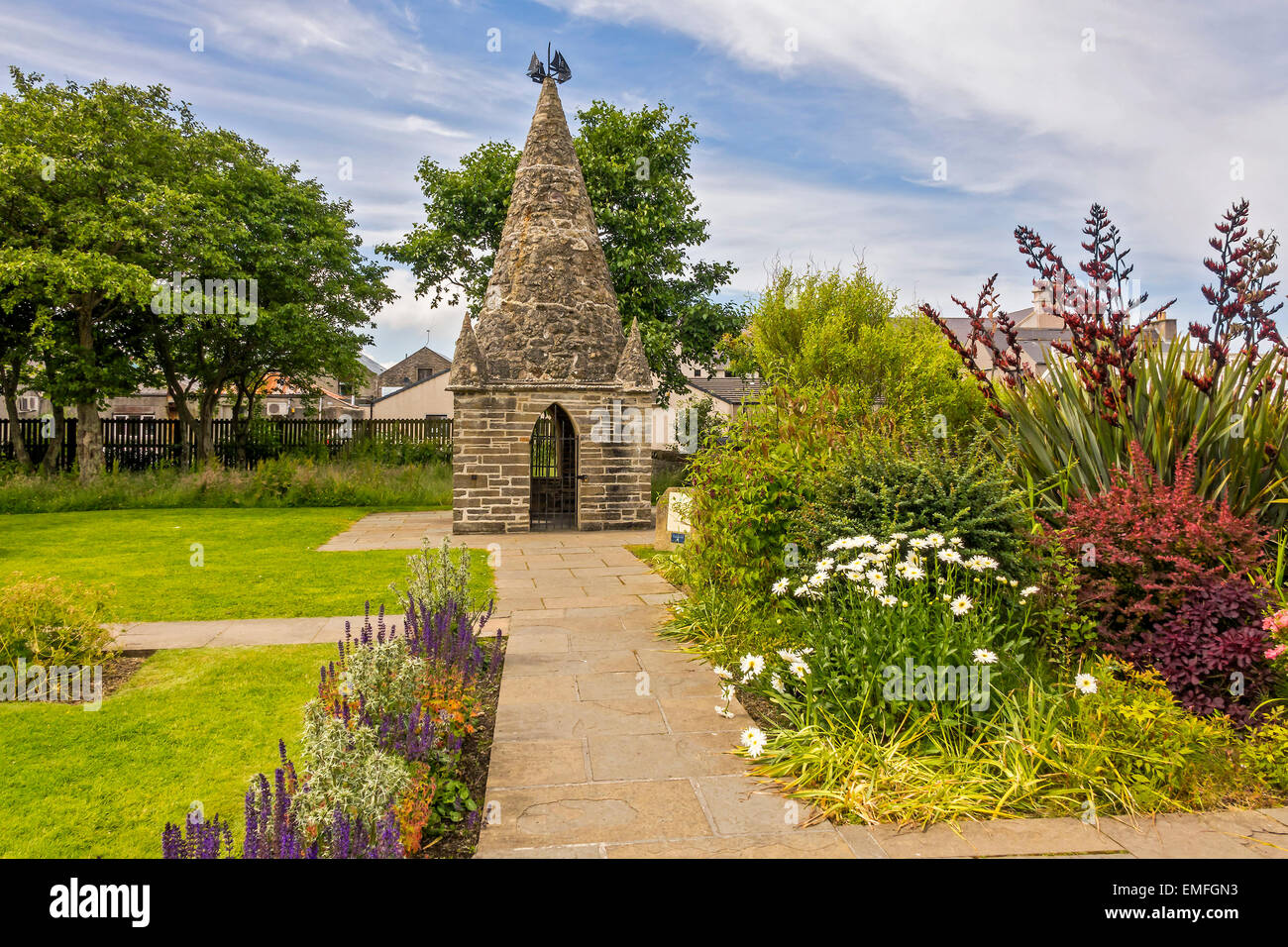 Kirkwall Museum Garden Orkney Islands UK - Stock Image