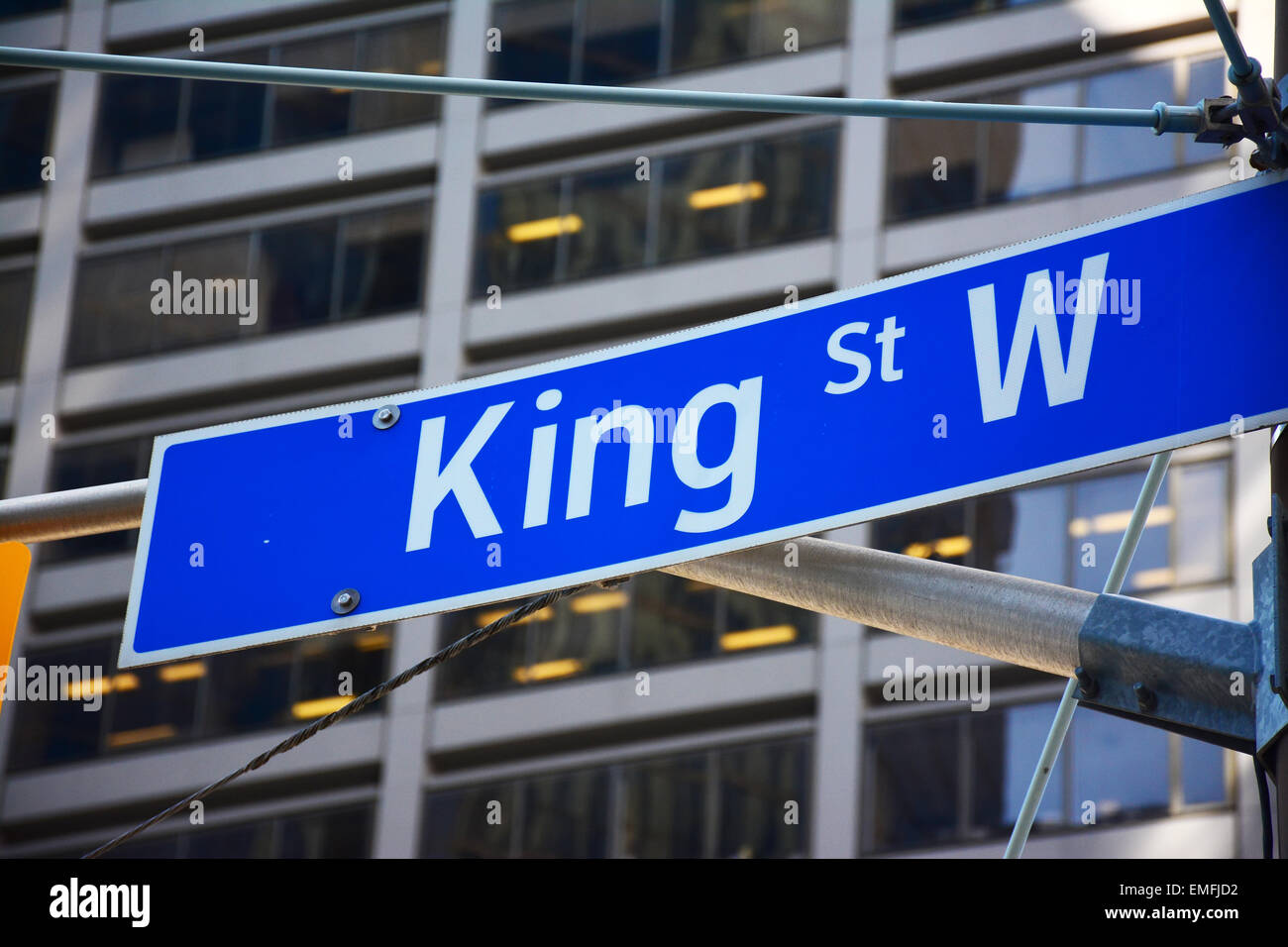 King street, street sign, Toronto, Canada - Stock Image