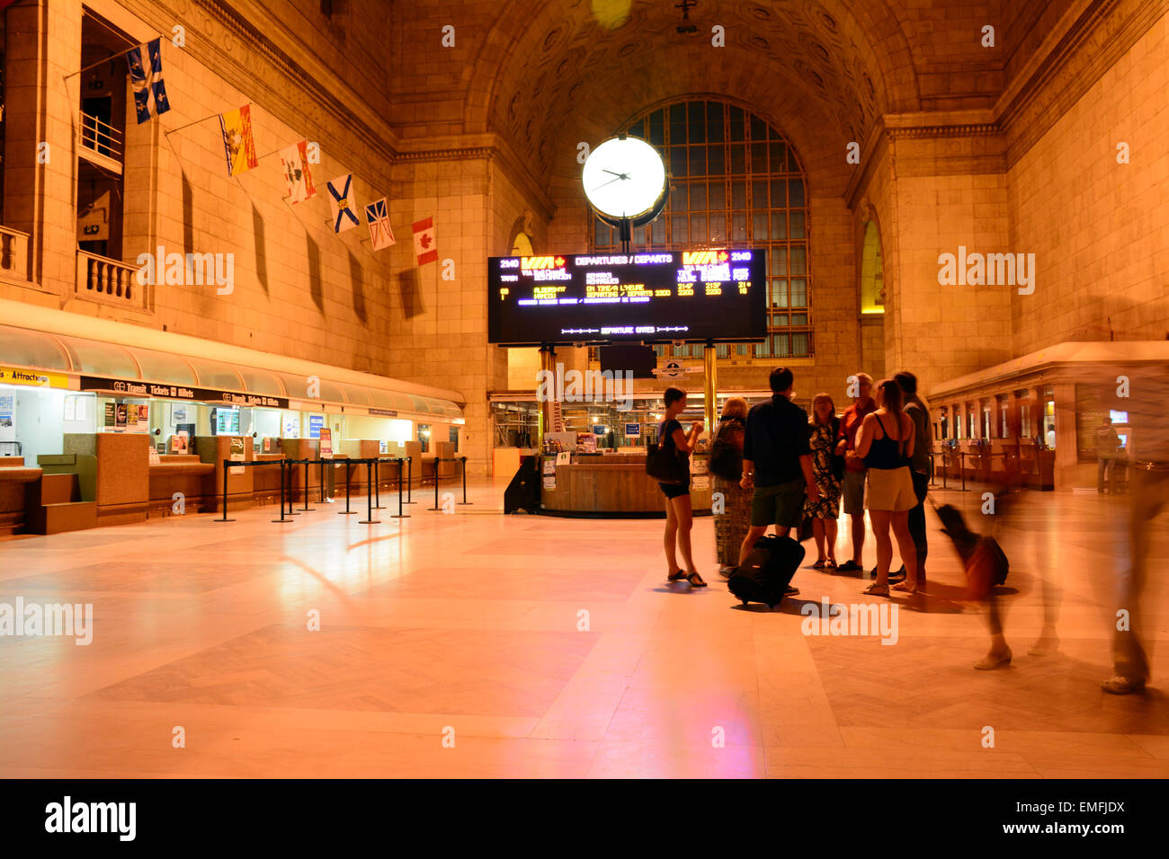 Union station at night, Toronto, Canada - Stock Image
