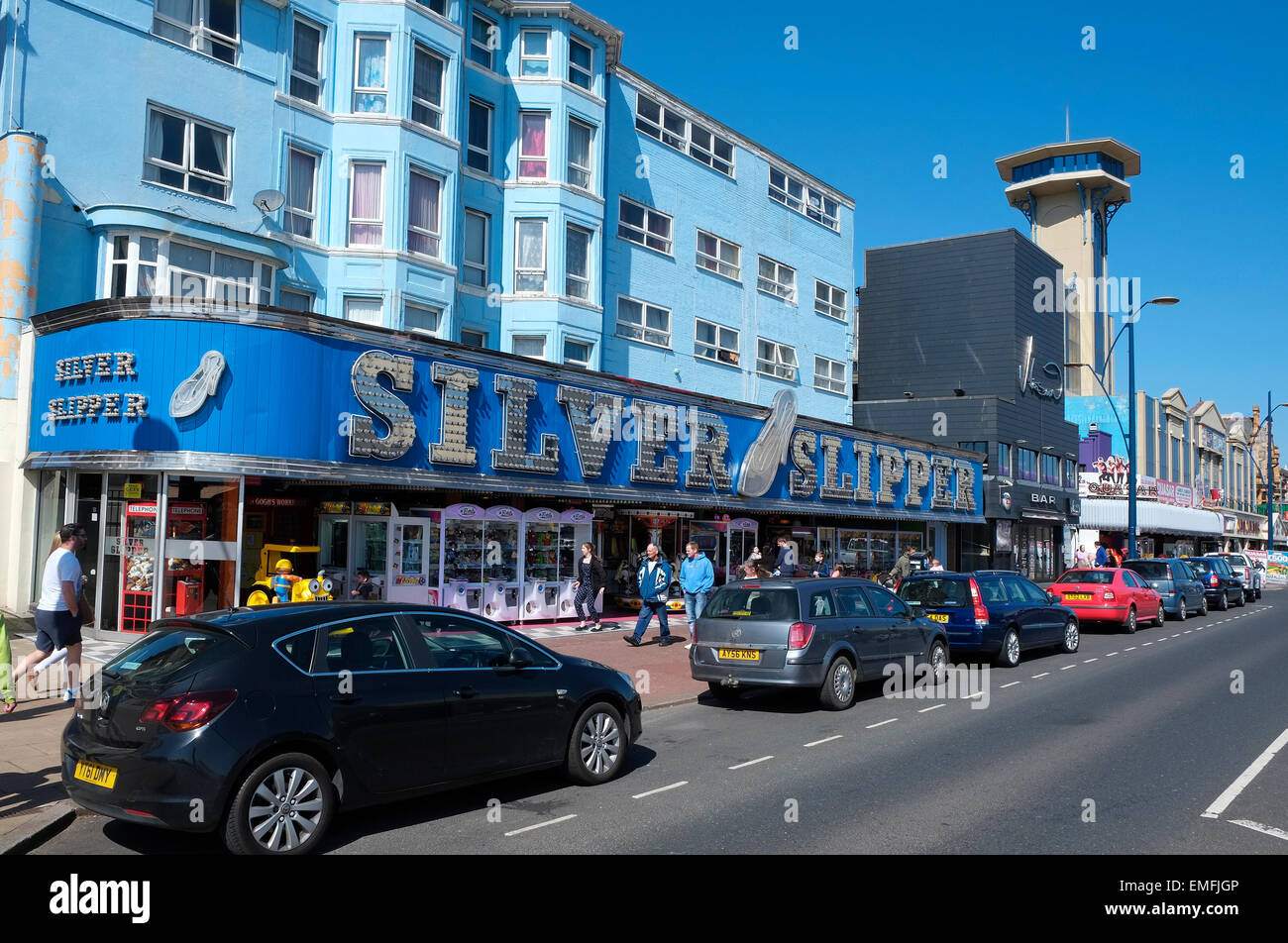 silver slipper amusement arcade, great yarmouth, norfolk, england - Stock Image