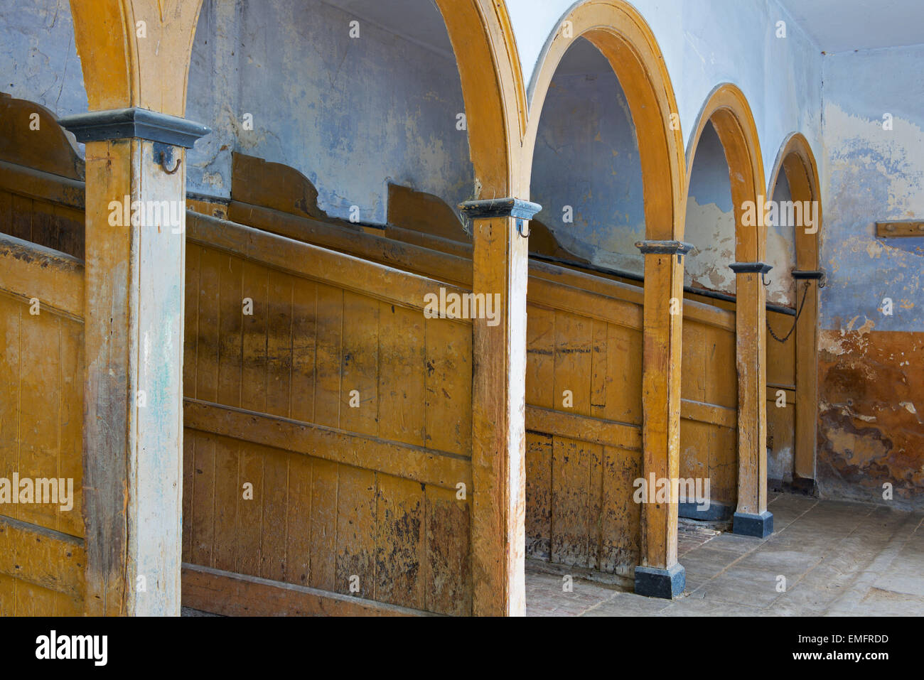 The stables at Calke Abbey, Derbyshire, England UK - Stock Image