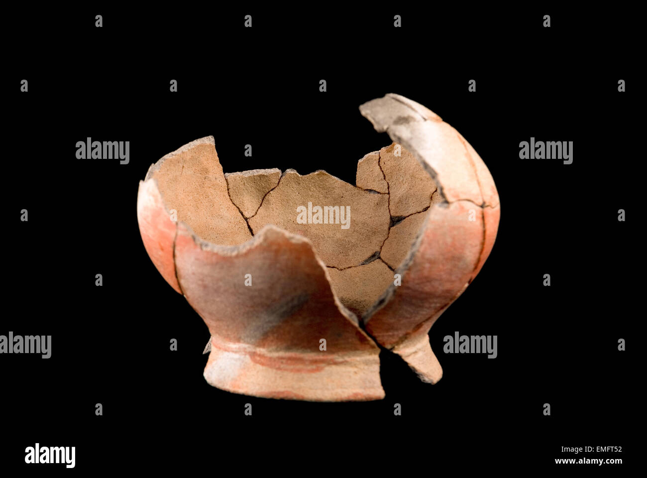 Protohistoric bowl found in coastal Java, Indonesia. - Stock Image