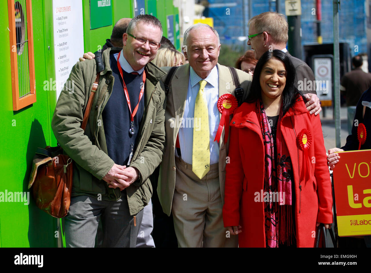 Bradford, West Yorkshire, UK, 20th Apr, 2015. Former Labour MP and Mayor of London Ken Livingstone in Bradford to Stock Photo