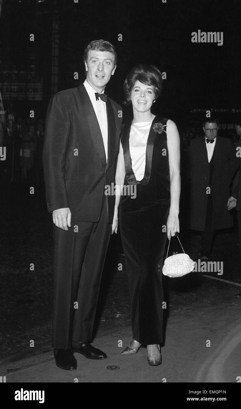 British actor Michael Caine attends the world premiere of 'The Wild and The Willing' accompanied by actress - Stock Image