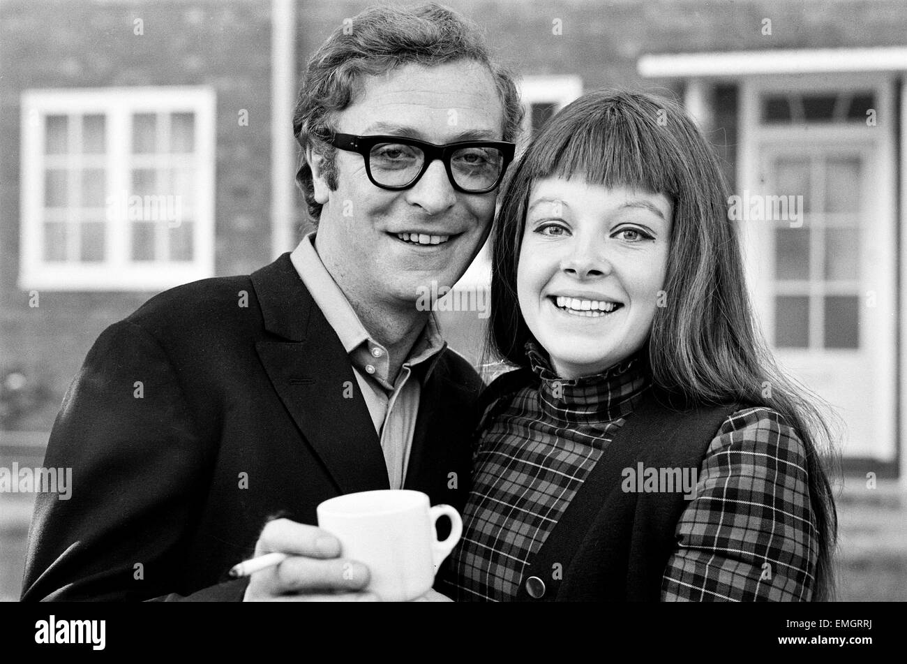 Michael Caine with actress Anna Calder-Marshall. 21st October 1968. - Stock Image