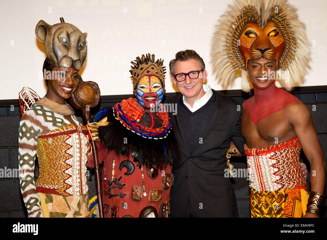23.FEBRUARY.2012. MANCHESTER  LION KING PRESS LAUNCH IN MANCHESTER, COMEDY STORE, DEANSGATE LOCKS, MANCHESTER - Stock Image