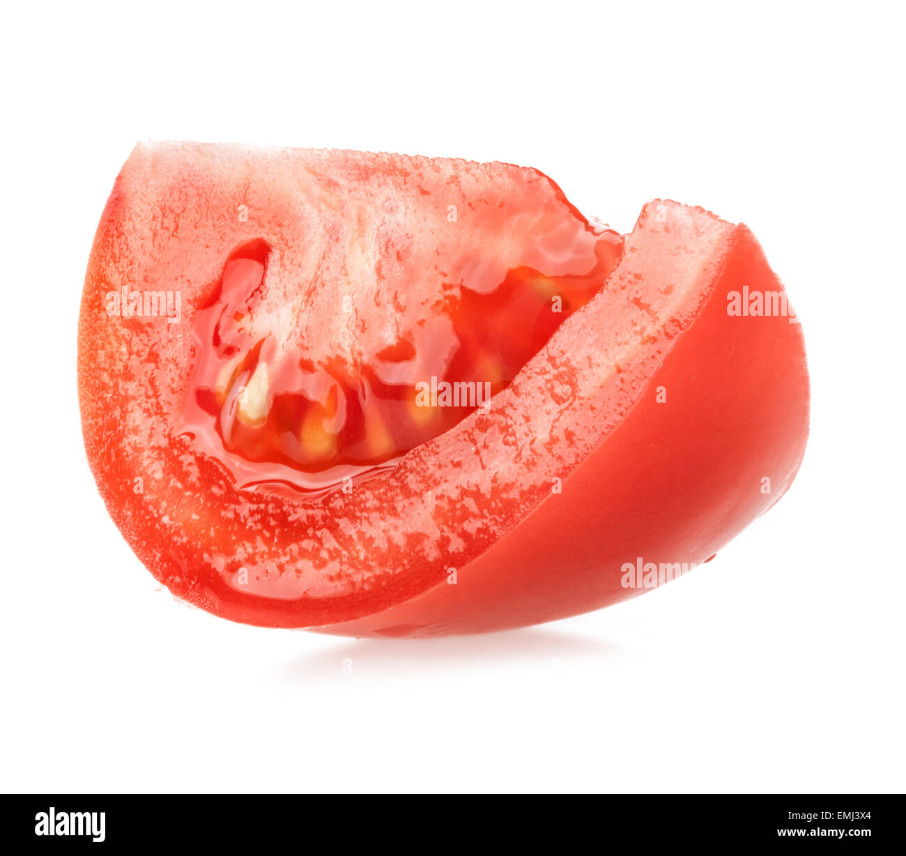 red tomato slice isolated on white background stock photo 81532812