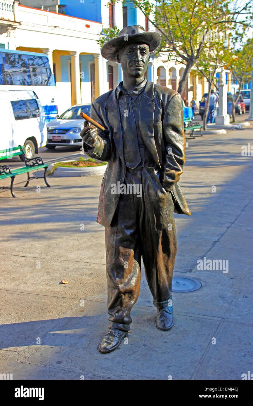 Statue famous Cuban Son singer Benny More Cienfuegos Cuba - Stock Image