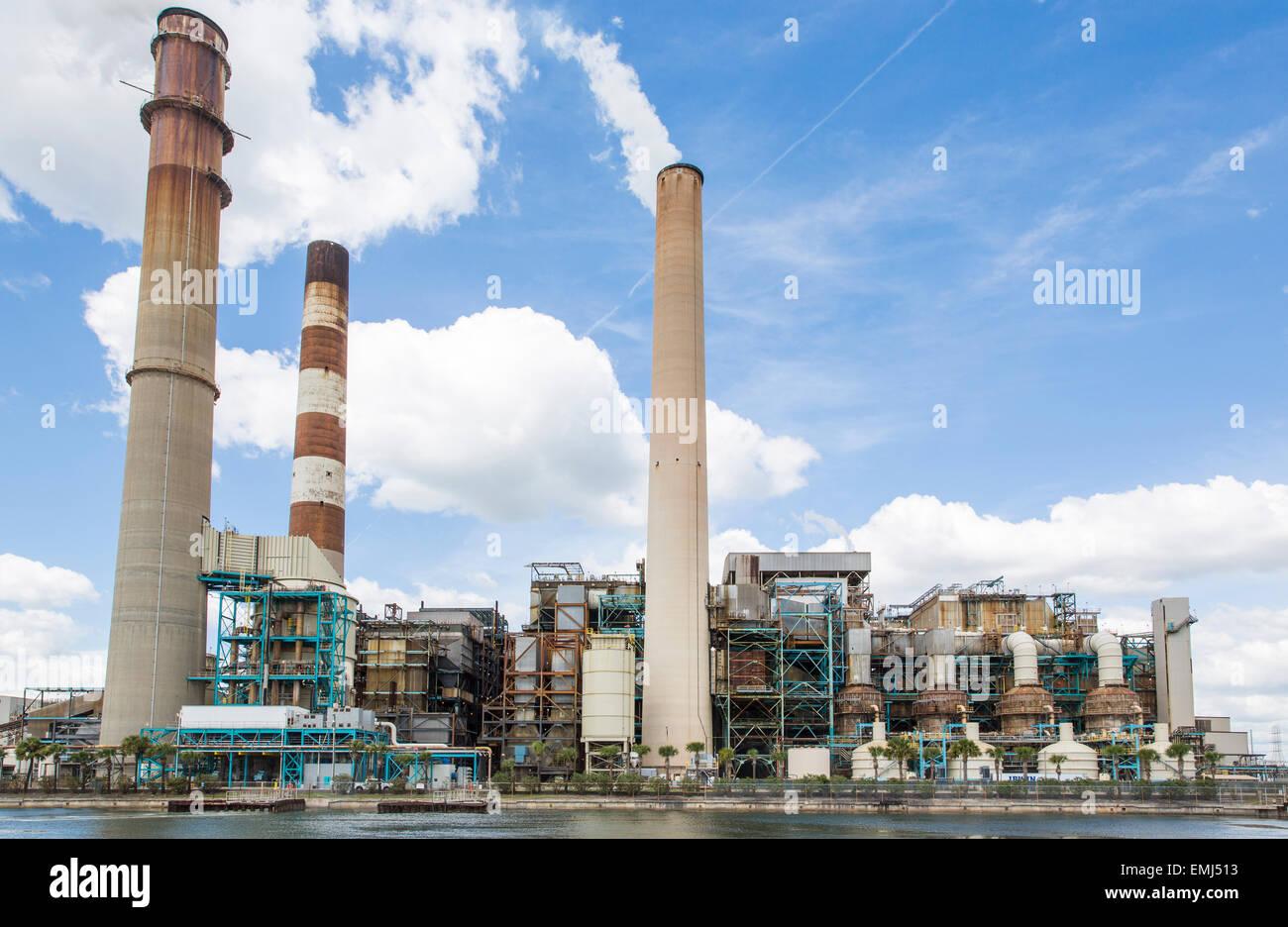 Big Bend Power Station, Tampa Electric, Apollo beach Florida. - Stock Image