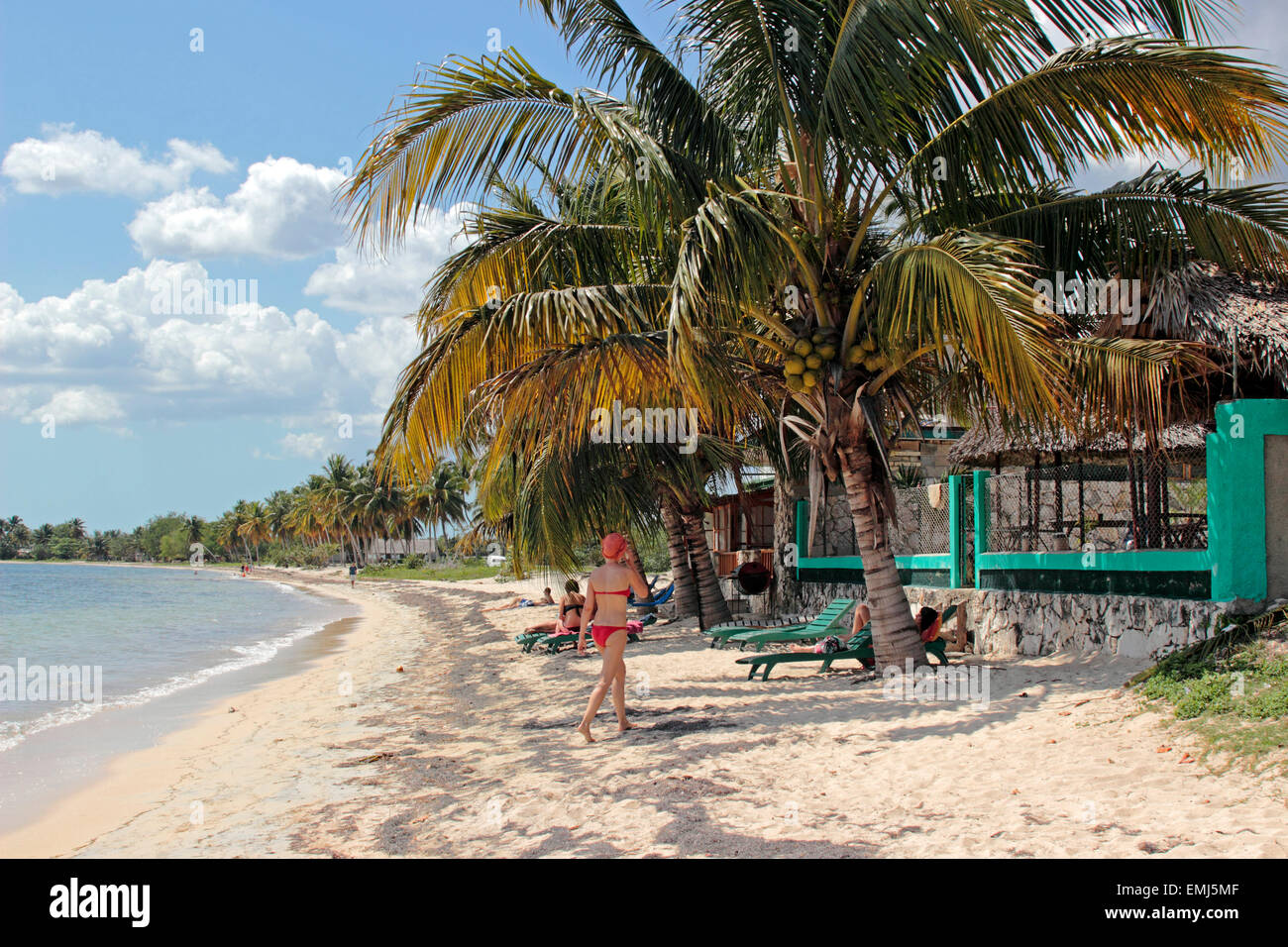Beach on the 'Bay of Pigs' Zapata Peninsula Cuba - Stock Image
