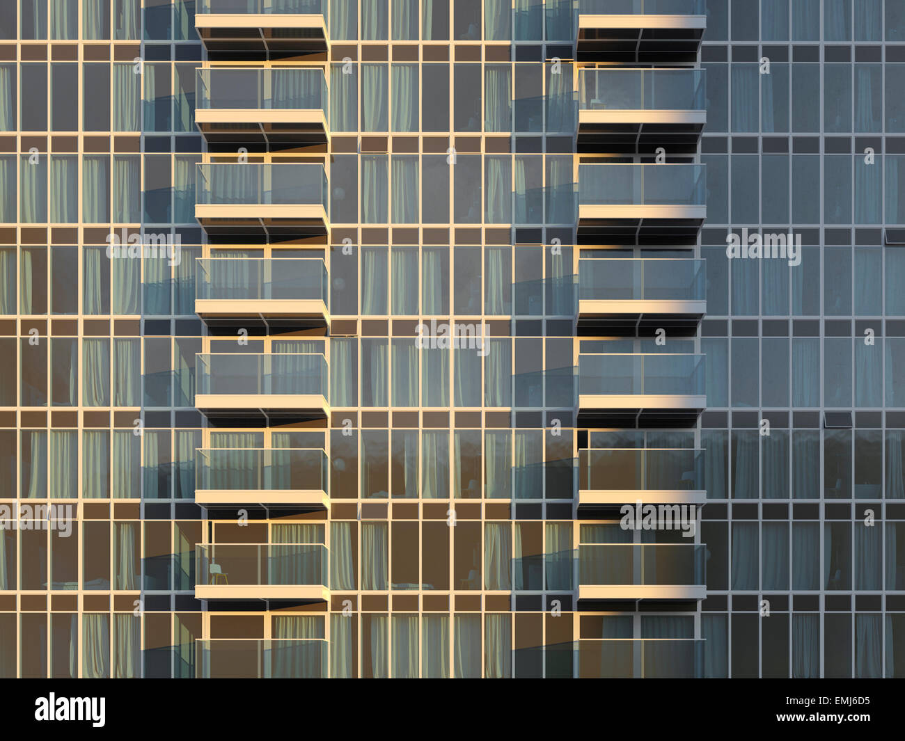 CGI Apartment closeup - Stock Image