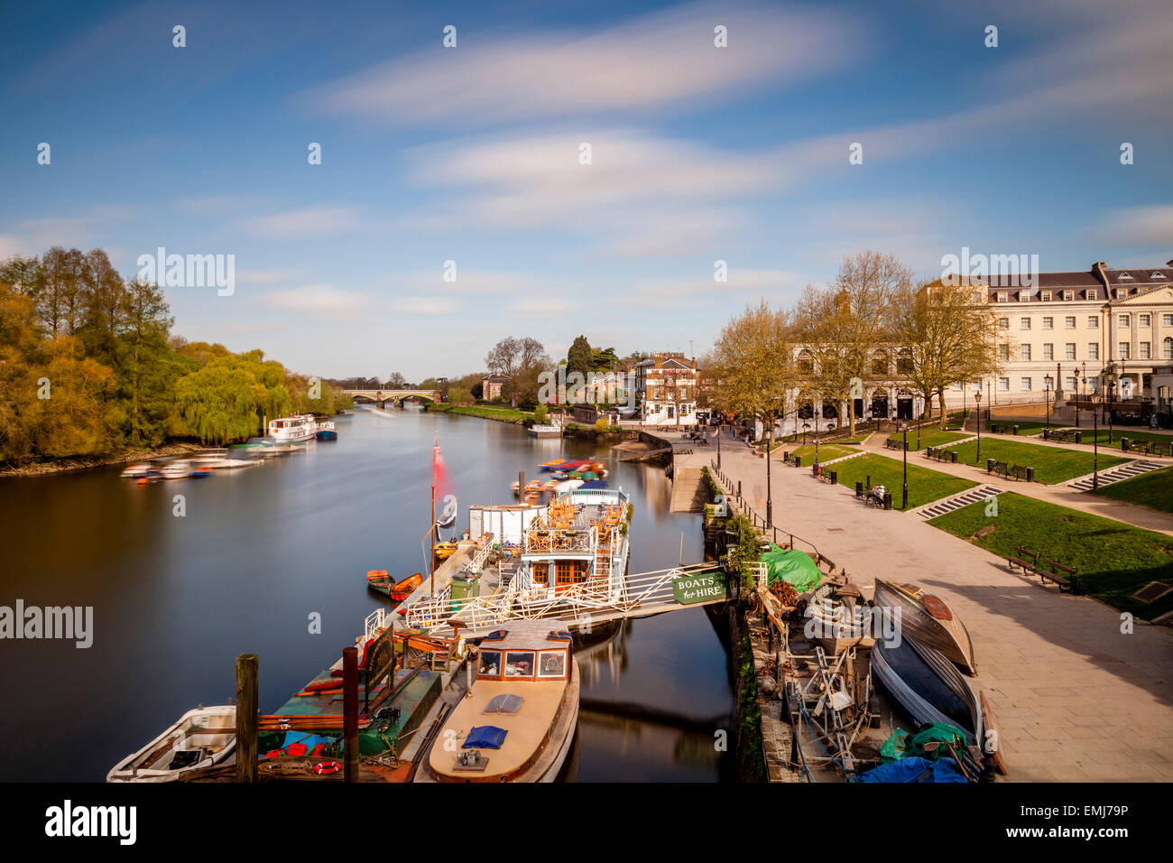 The River Thames at Richmond, London, England - Stock Image