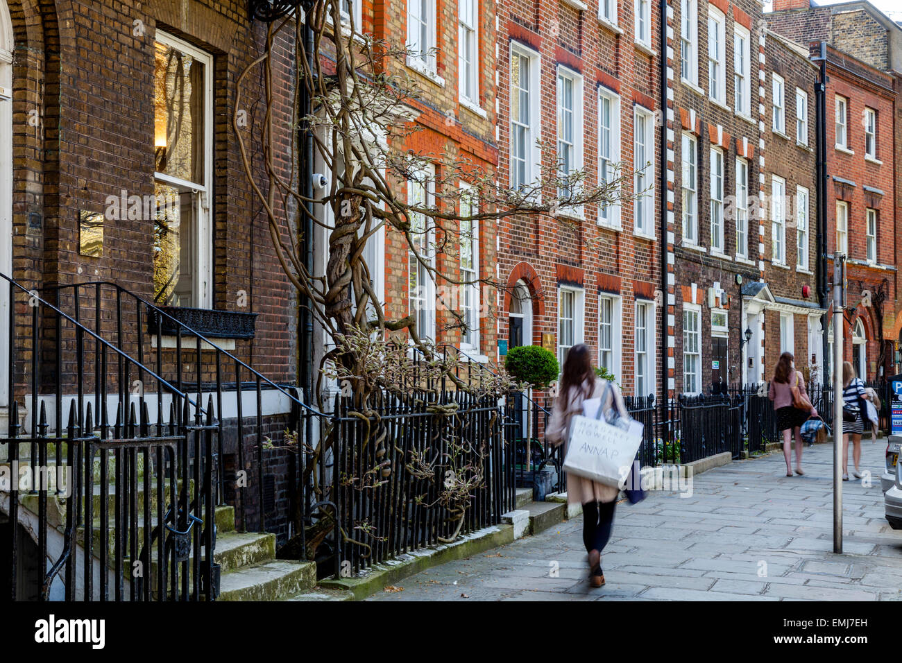 Historical Buildings On Richmond Green, Richmond Upon Thames, London, England - Stock Image