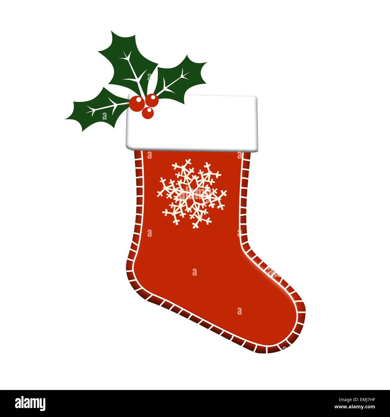 Christmas Stockings Illustration Stock Photos & Christmas Stockings ...
