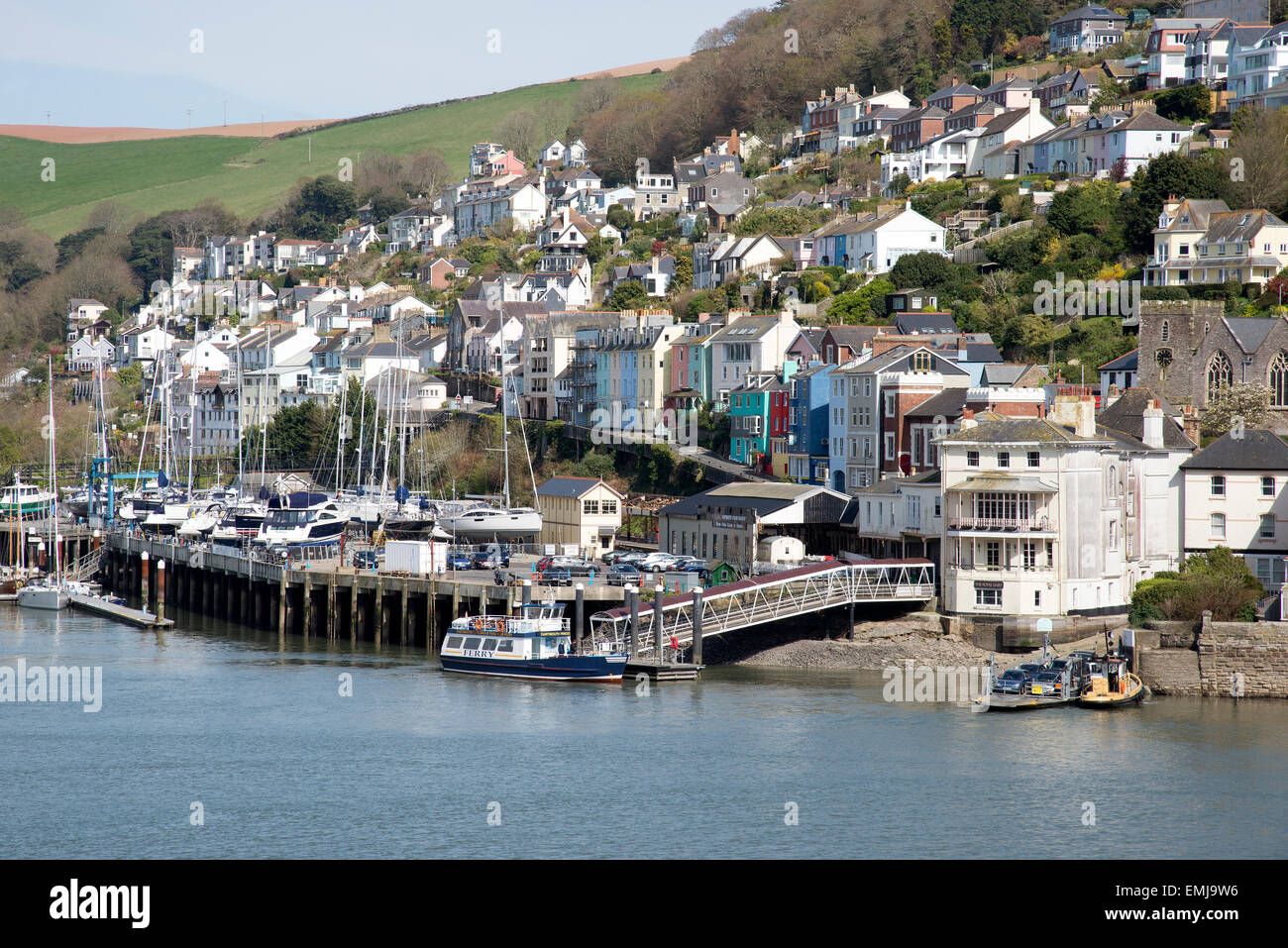Kingswear a small Devonshire town overlooks the River Dart Devon England UK - Stock Image
