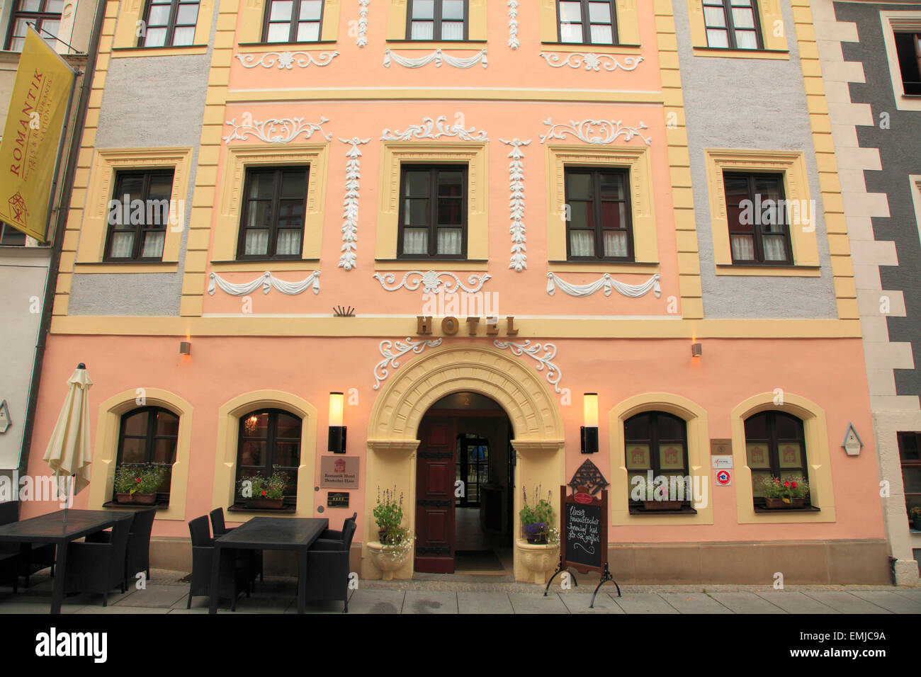Germany, Saxony, Pirna, Romantik Hotel Deutsches Haus, - Stock Image