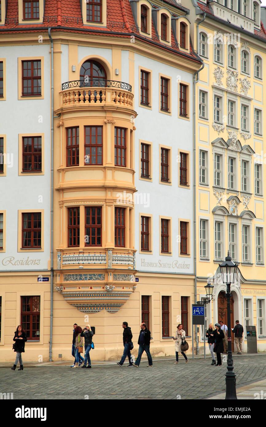 Germany Saxony Dresden Heinrich Schütz Residenz historic architecture - Stock Image
