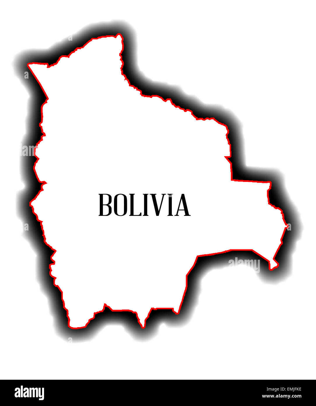 Picture of: Outline Blank Map Of The South American Country Of Bolivia Stock Photo Alamy