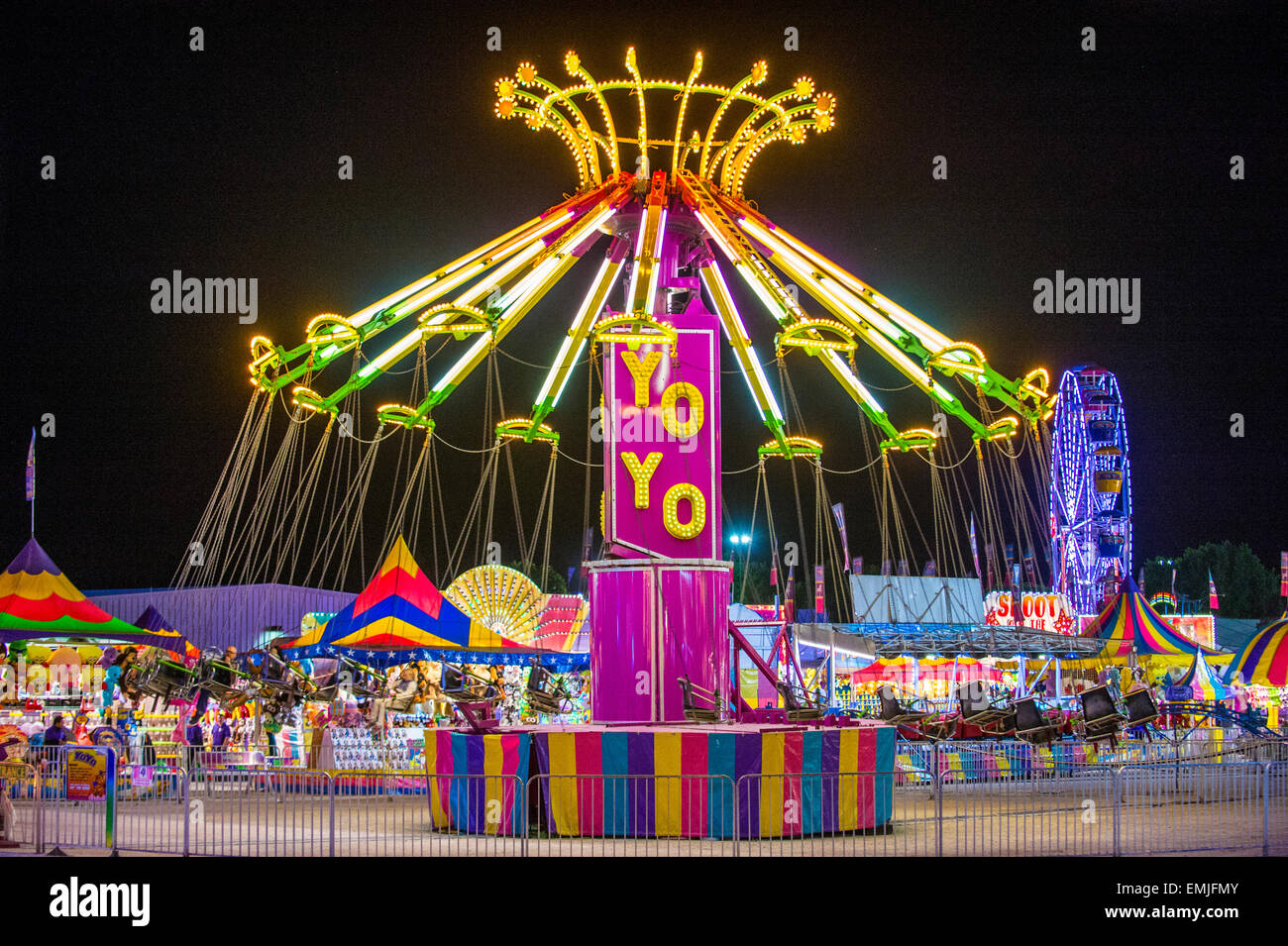 Amusement Park At The Clark County Fair And Rodeo Held In